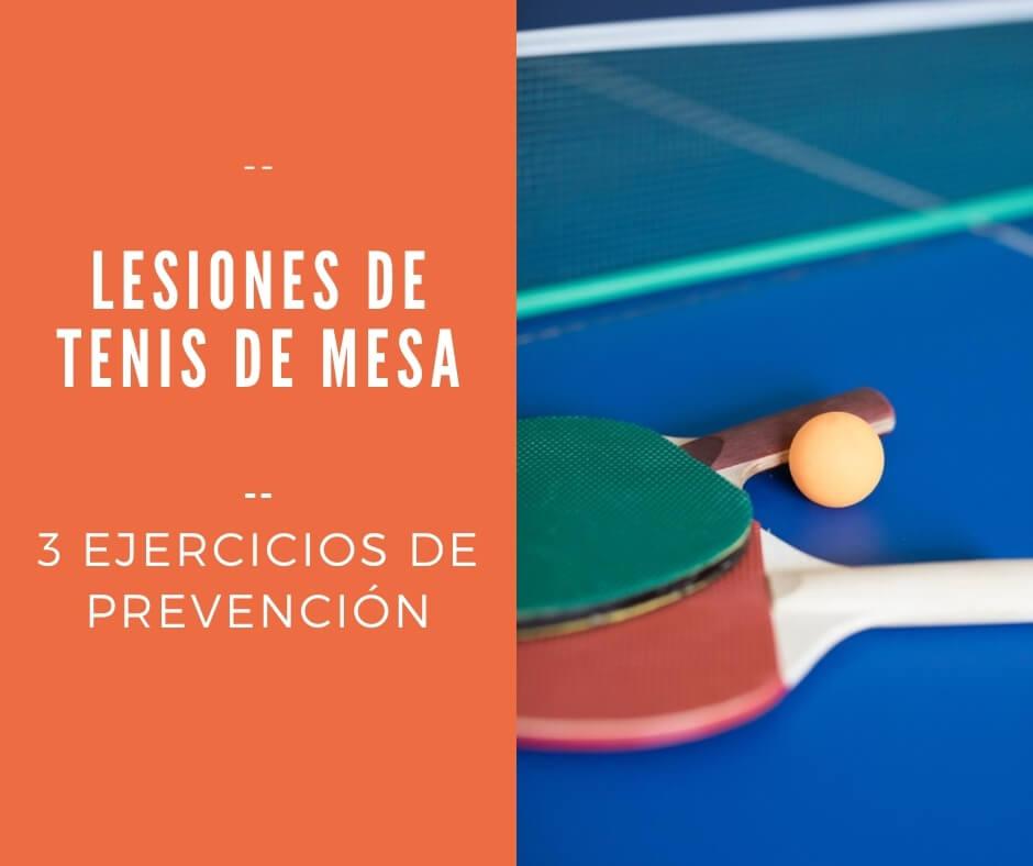 Prevenir lesiones de Tenis de Mesa